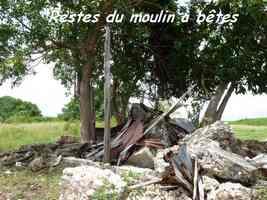 Moulin à bêtes, Agapy, Saint Louis, Marie Galante