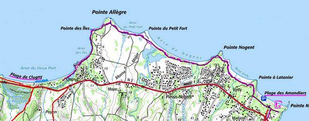 carte page des amandiers-plage de cluny, basse terre nord, guadeloupe