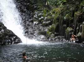 bain, cascade paradis, grivelière