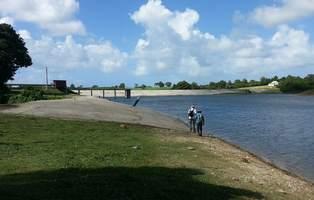 digue, barrage, gaschet, grande terre, port Louis, Guadeloupe