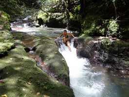 bassin cascade tambour, petit bourg