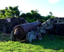 canon Vieux fort, basse etrre guadeloupe