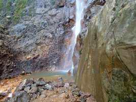 chute carbet 1, bassin, basse terre sud, guadeloupe