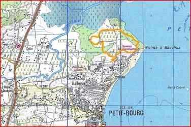 Carte, Pointe à Bacchus, Petit Bourg