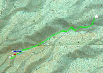 carte chutes moreau, goyave, basse terre nord, guadeloupe