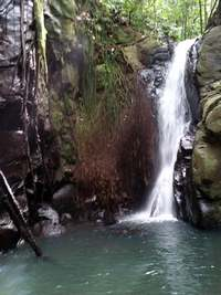 cascade 1 ferry , deshaies, guadeloupe , basse terre