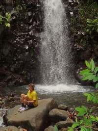 Ravine Tonton, cascade, rivière vx habitants, guadeloupe