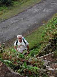 départ, ravine matylis, soufrière Basse terre, Guadeloupe