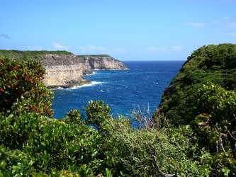 vue falaises Anse Bertrand Guadeloupe