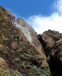 faille, Soufrière, trace géologues, Basse terre, Guadeloupe