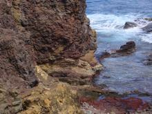 balade, désirade, falaise basalte, iles guadeloupe, antilles