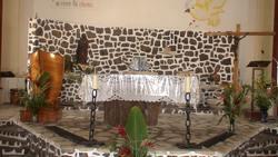balade, désirade, église, ile guadeloupe, antilles