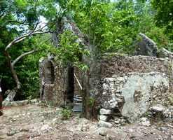 ruine, habitation Terre de Bas, guadeloupe