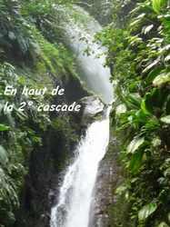 haut cascade autre, chutes moreau, goyave, basse terre nord, guadeloupe