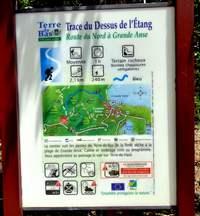 pancarte trace bleue, Terre de bas, guadeloupe