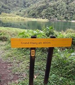 pancarte Grand etang Basse terre guadeloupe
