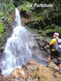 parabole, cascade basse terre, guadeloupe