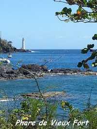 phare vieux fort, rivière sens, basse terre, guadeloupe
