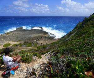pointe souffleur trace des falaises Guadeloupe