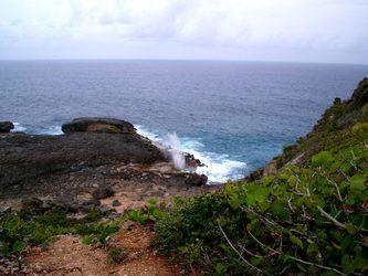 pointe souffleur trace falaises Guadeloupe