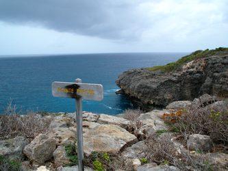 pointe percée trace falaises Guadeloupe
