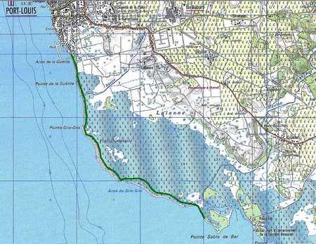 carte, port louis, anse sable, grande terre, Guadeloupe
