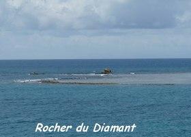 rocher diamant, littoral gosier, saline -pt havre