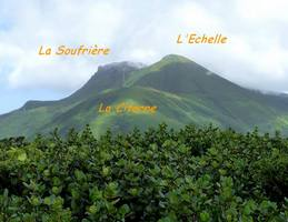 soufrière, vue, madeleine, basse terre, guadeloupe