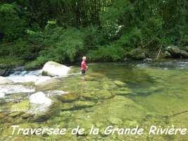 traversée, rivière vx habitants, guadeloupe