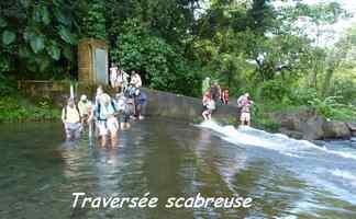 traversée barrage , grivelière