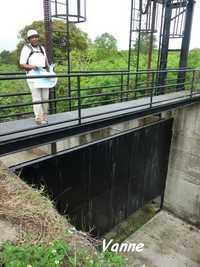 Vanne du barrage de gaschet, Poyen