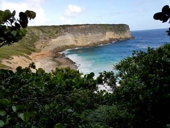 vue anse à l barque Falaises Guadeloupe