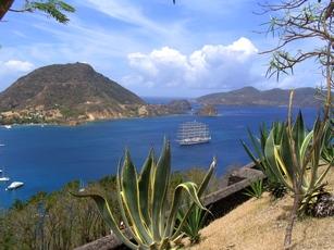 vue chameau fort terre de haut Guadeloupe