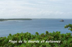 vue plage de la Gourde, pointe des chateaux, guadeloupe