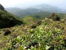 vue monts caraibes, Soufrière, basse terre, guadeloupe