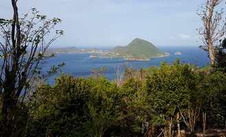 trace rouge vue sur TdeHaut Guadeloupe