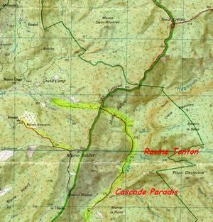 rivière vx habitants, carte